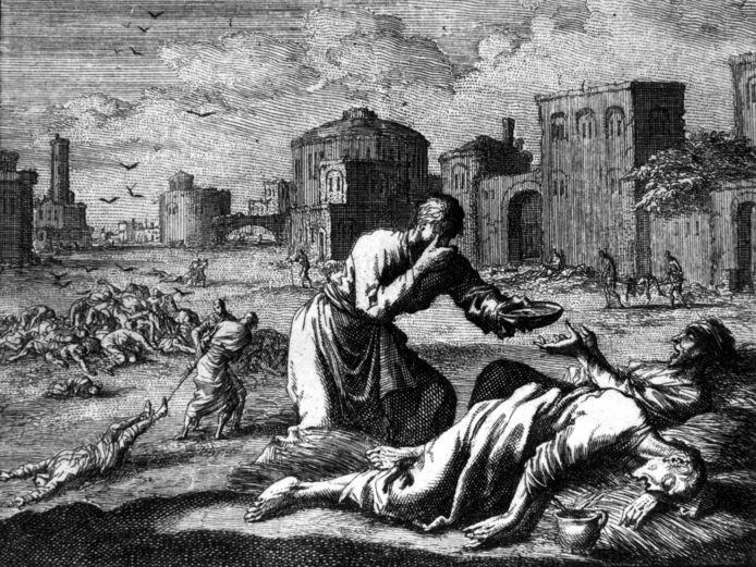 De Zwarte Dood dunde in de 14de eeuw de bevolking van Europa met ongeveer een derde uit.