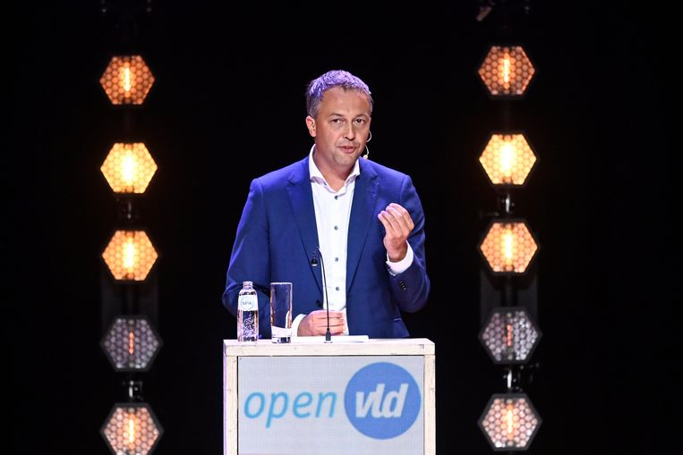Open Vld-voorzitter Egbert Lachaert. Beeld Photo News