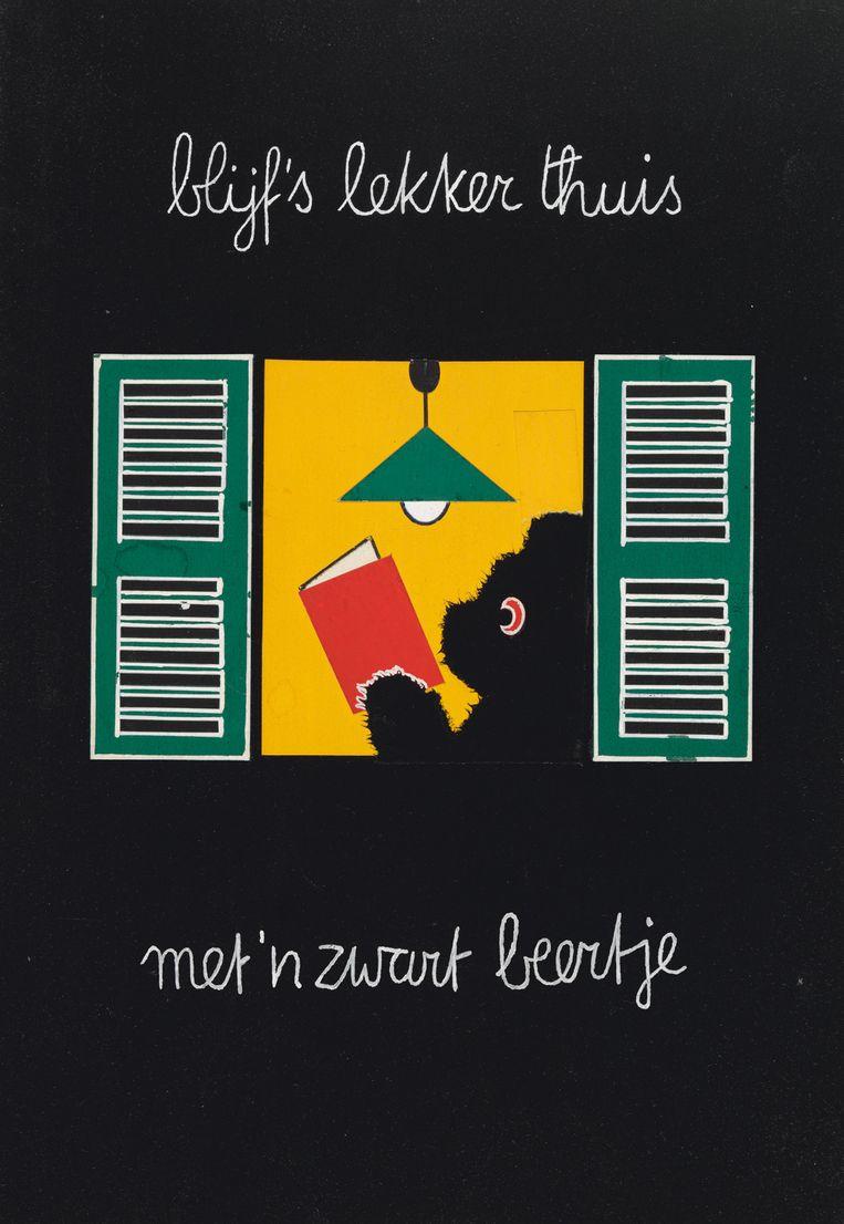 Dick Bruna. Blijf eens lekker thuis met een Zwart Beertje, 1963. Beeld Mercis bv