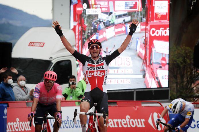 Wellens grijpt zijn tweede etappezege in de Vuelta.