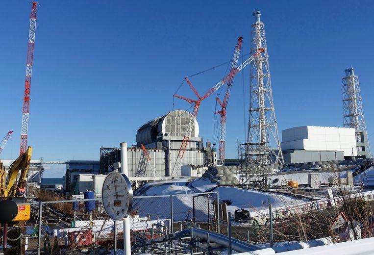 De nucleaire site op Fukushima, archiefbeeld.  Beeld AP