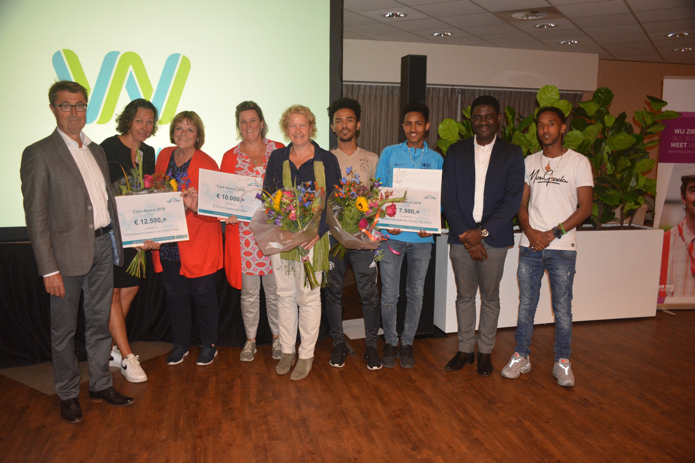 De winnaars van de Bergmansfonds Care-Award.