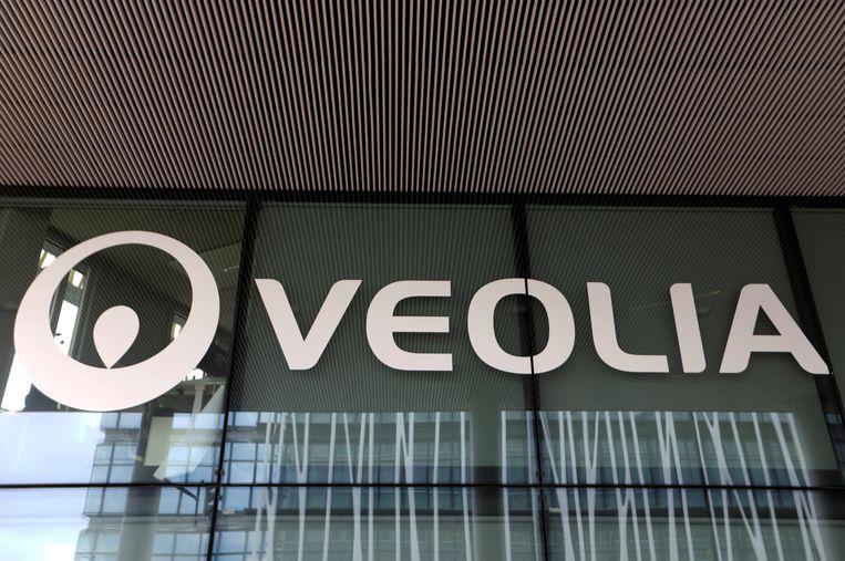 Het logo van Veolia. Beeld REUTERS