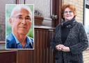 Wilma Pironti-Jansen voor haar huis in Sas van Gent. Inzet: Arsenio Pironti.