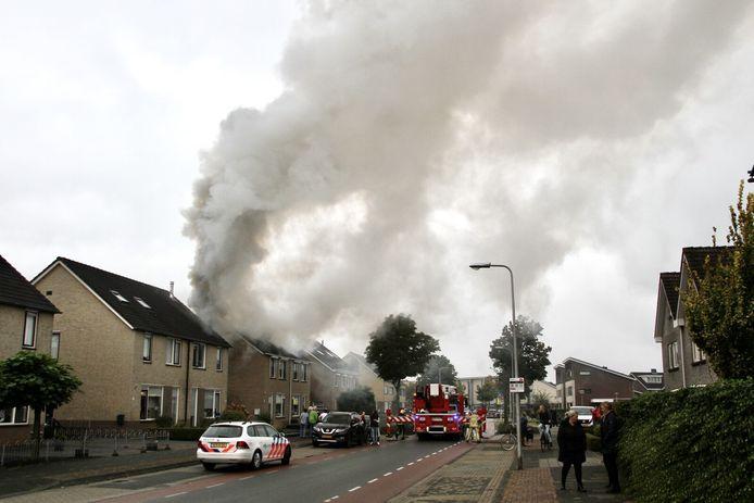 De brand in de straat Veeneslagen.