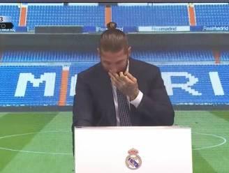 """Sergio Ramos neemt in tranen afscheid van Real Madrid: """"Dit is geen vaarwel, maar een tot ziens"""""""