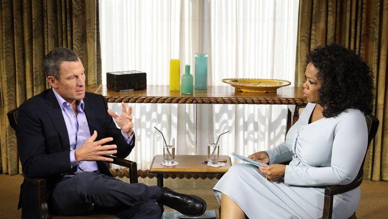 Lance Armstrong en Oprah Winfrey Beeld AFP