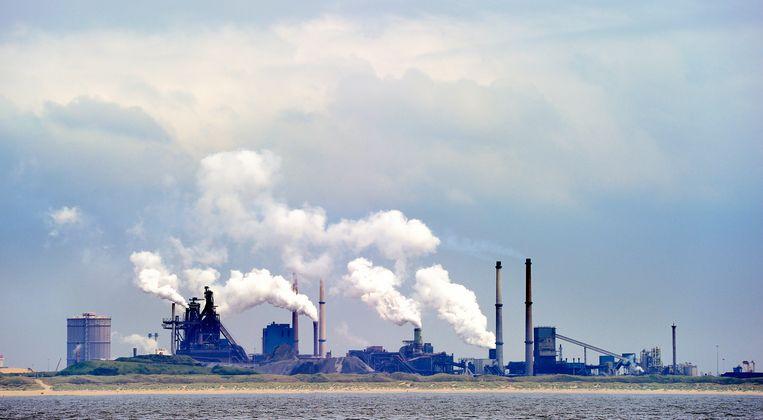 De Hoogovens van Tata Steel bij IJmuiden. Beeld ANP XTRA