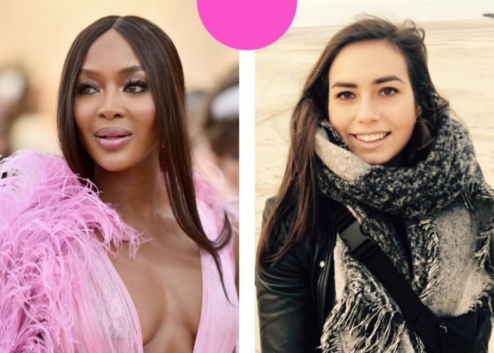 Links: Naomi Campbell. Rechts: Eline.