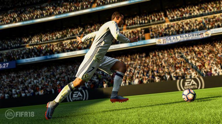 Christiano Ronaldo was een van de topvoetballers die zijn beeltenis leende aan de promotie van 'Fifa 18'. Beeld EA