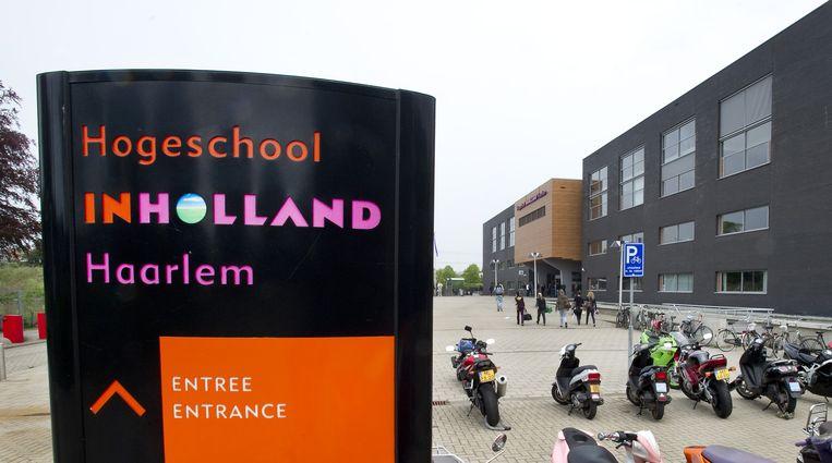 Hogeschool InHolland in Haarlem. Eén van de onderwijsinstellingen waar diverse opleidingen als hbo onwaardig werden beoordeeld. Foto ANP. Beeld anp