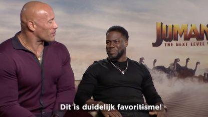 """INTERVIEW. Dwayne Johnson en Kevin Hart over 'Jumanji: The Next Level': """"Jij bent wel érg onder de indruk van zijn lichaam"""""""