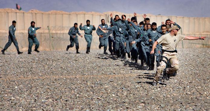 De Koninklijke Marechaussee leidde in Afghanistan agenten op.