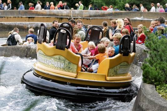 De wildwaterbaan in Avonturenpark Hellendoorn