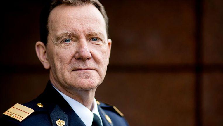 De Amsterdamse brandweercommandant Leen Schaap Beeld anp
