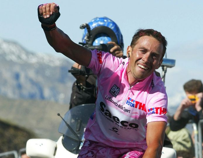 Gilberto Simoni was de eerste winnaar op de Monte Zoncolan.