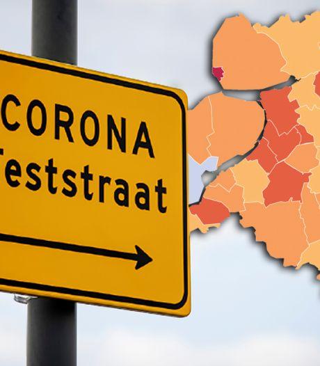KAART   Aantal nieuwe positieve tests in regio daalt wéér: Urk enige gemeente 'in het rood'