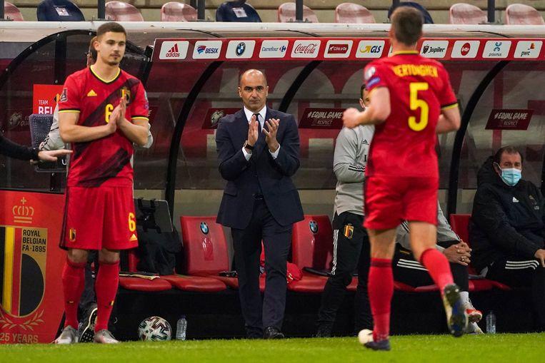 Bondscoach Roberto Martinez vervangt Jan Vertonghen door Leander Dendoncker in de match tegen Wit-Rusland in maart. Mogelijk kan hij wat extra mankracht meenemen naar het EK. Beeld Photo News