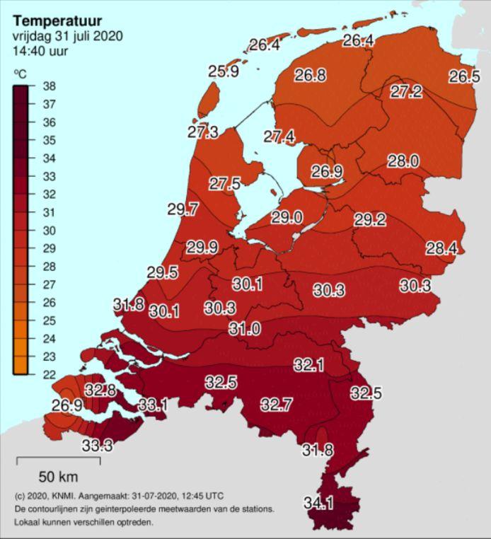 31 juli is een tropische dag in Nederland.