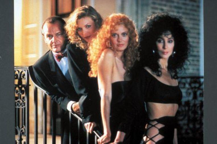 Cher, Susan Sarandon en Michelle Pfeiffer als 'witches van Eastwick'.  Beeld kos