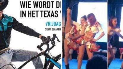 Geen vrouwelijk schoon op banner van E3 Harelbeke, maar wel sexy cowgirls tijdens de voorstelling