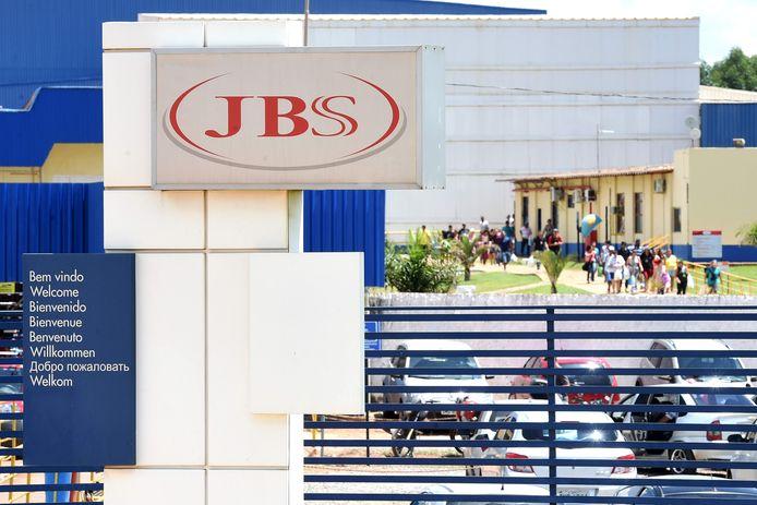 Het exterieur van JBS. De vleesproducent werd onderzocht in de operatie 'zwak vlees'.
