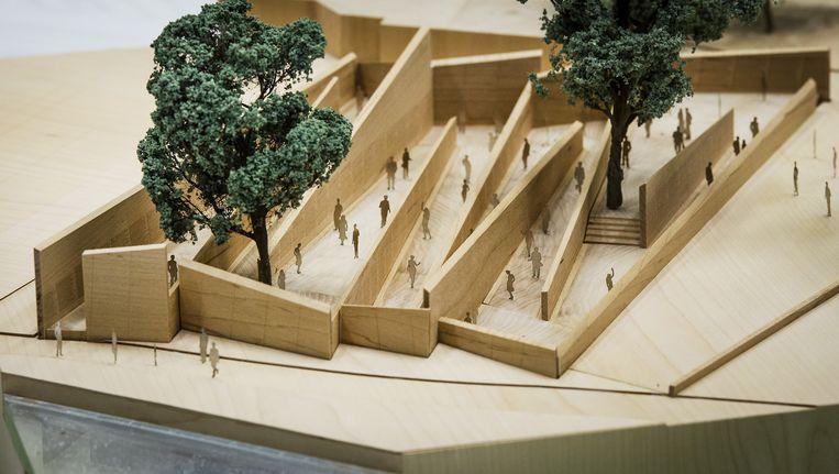 Ontwerp van het Holocaust Namenmonument door architect Daniel Liebeskind. Beeld ANP