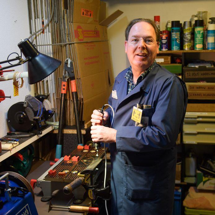 Coördinator Wijnand Bleumink van het Repaircafé Berkelland.