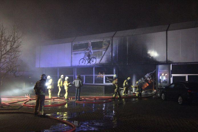 Brand in de fietsfabriek in Ulft.