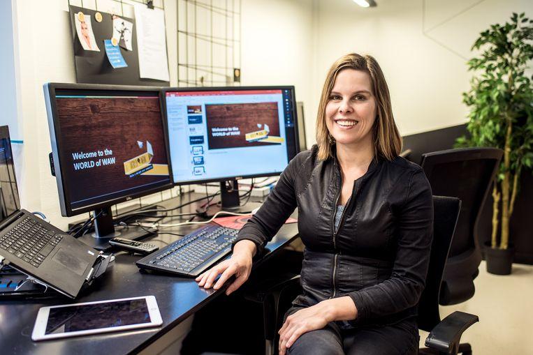 Tina Stroobandt van AR-bedrijf World of Waw. Beeld Tine Schoemaker