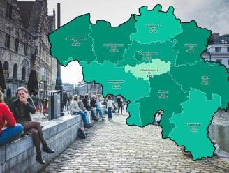 IN KAART. Besmettingen nemen overal af, in Vlaanderen het meest in Limburg. Bekijk hier de situatie in uw regio