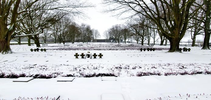 Het Duits kerkhof in Hooglede.