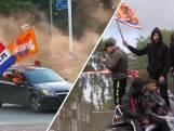 Twentse Oranjefans vieren overwinning op rotondes
