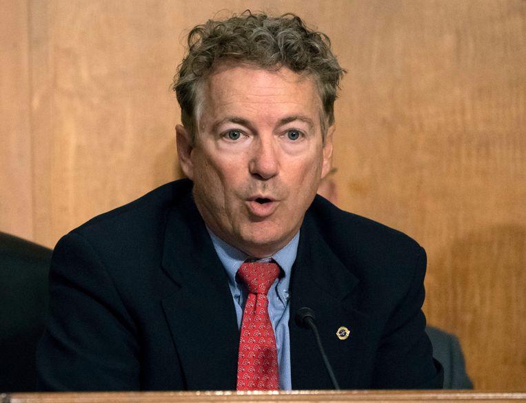 Republikeins senator Rand Paul vindt het geen goed idee om Saudi-Arabië te belonen met de verkoop van Amerikaanse wapens die kunnen ingezet worden voor het doden van burgers. Beeld AP