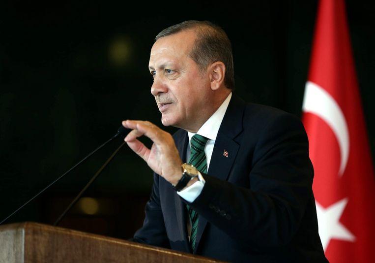 Erdogan, sultan van Turkije Beeld anp