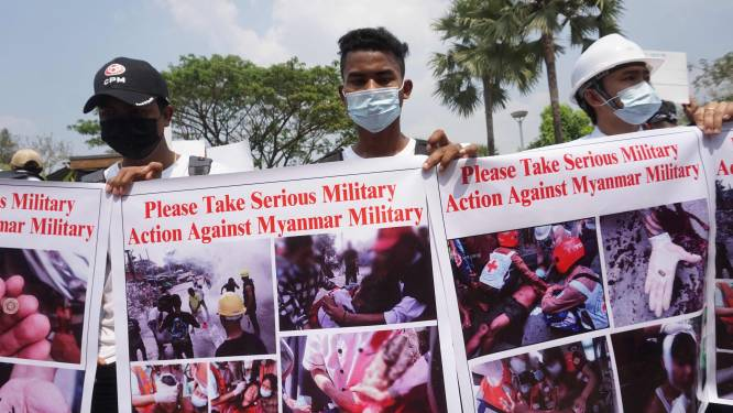Aanhoudende protesten in Myanmar, Facebook blokkeert pagina van leger