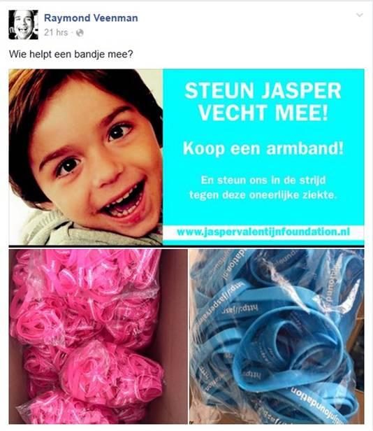 De Jasper Valentijn-armbandjes zijn in het blauw en roze te krijgen