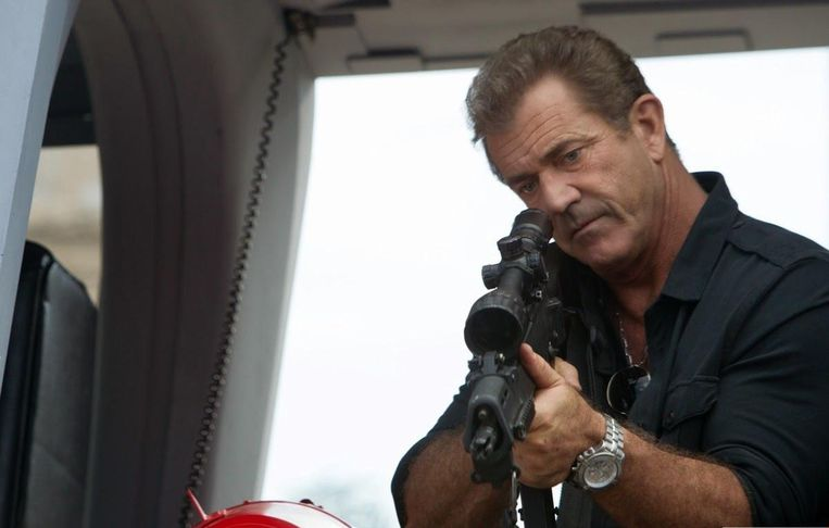 Mel Gibson in The Expendables 3 van Patrick Hughes Beeld