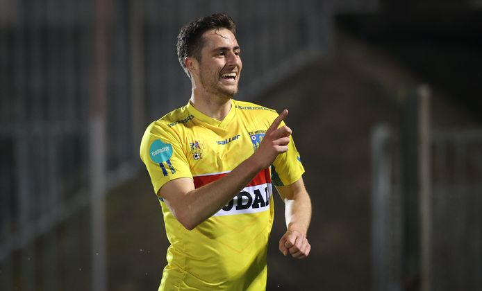 Kyan Vaesen scoorde het enige doelpunt.