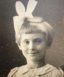 Jenny Hitzert op de 6-jarige leeftijd.