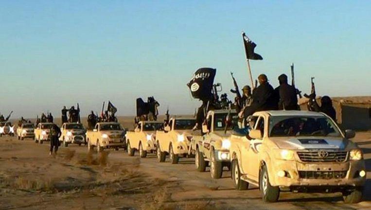IS-strijders in Raqqa in de zomer van 2014. Beeld AP