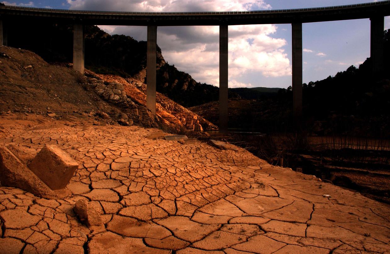 Enorme droogte in Spanje.  Beeld Getty