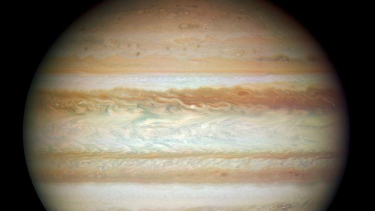 Jupiter, gefotografeerd vanuit de Hubbletelescoop. Beeld AP