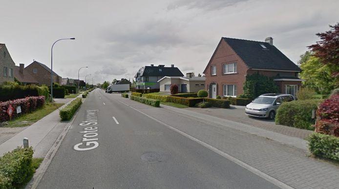 De superflitspaal staat deze week in de Grote Steenweg in Lievegem.