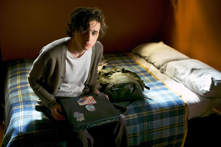 Timothée Chalamet als Nic Sheff in 'Beautiful Boy', de film van Felix Van Groeningen over de gespannen relatie tussen een vader en zijn aan drugs verslaafde zoon. Beeld RV