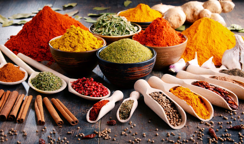 Kruiden en specerijen: als je die gebruikt heb je minder of zelfs geen zout nodig.