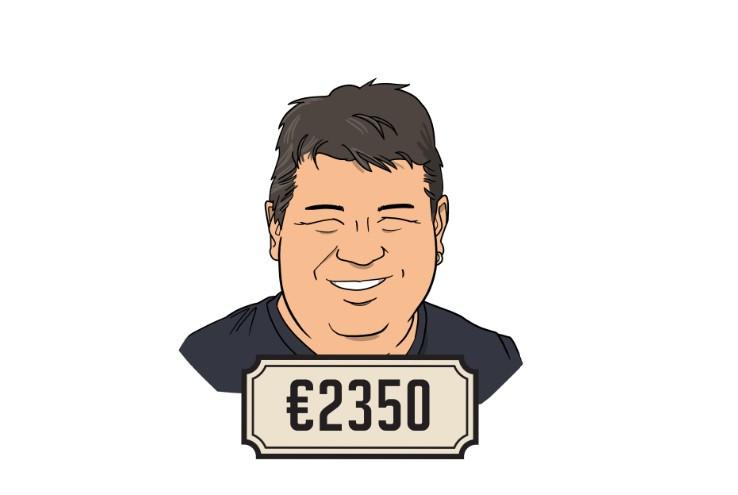 Alexander (38) verdient netto gemiddeld 2350 euro per maand.