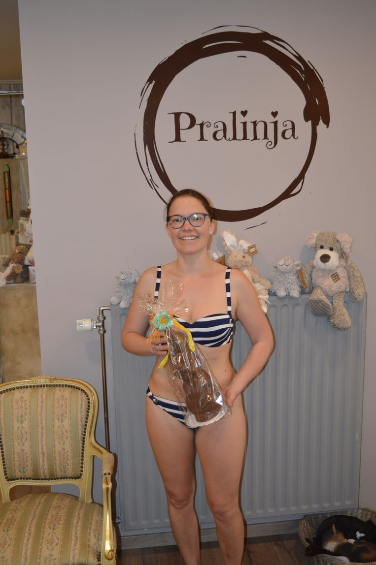 De derde winnares van de Pralinja-wedstrijd.