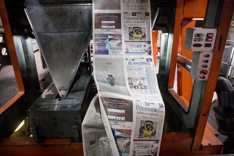 Venezuela's laatste oppositiespreekbuis, dagblad El Nacional, sloot eind 2018. Beeld EPA