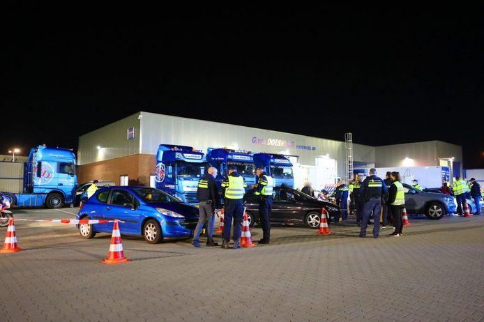 De controle in Zaltbommel.